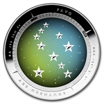 Australian 2013 Proof Silver $5 Color Domed - Southern Sky Pavo
