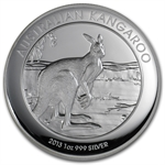 2013 1 oz Proof Silver Australian High Relief Kangaroo
