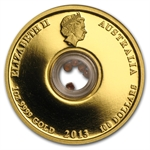 2013 Treasures of the World-Europe 1 oz Gold Locket w/ Garnet