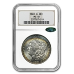 1881-O Morgan Dollar MS-64 NGC - Blue Toning - CAC