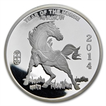 2 oz Year of the Horse Silver Round .999 Fine