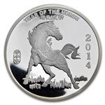 5 oz Year of the Horse Silver Round .999 Fine