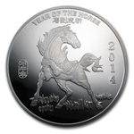 10 oz Year of the Horse Silver Round .999 Fine