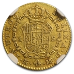 Spain 1787 Gold Escudo NGC Very Fine 35