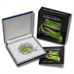 Palau 2013 Silver Proof $2 World of Frogs- Australian Green Frog