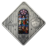 Palau 2012 Silver Proof $10 Holy Windows - Vienna Votive Church