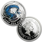 Pitcairn Islands Silver Proof Deep Sea Fish - 5 Complete Coin Set