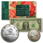 1997-P Botanical Garden $1 Silver Commem - Coinage & Currency Set
