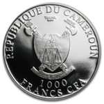 Cameroon 2013 1 oz Silver 1,000 Francs CFA - Cross River Gorilla
