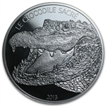 Burkina Faso 2013 1 oz Silver 1,000 Francs CFA - Le Crocodile