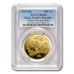 1997 1 oz Gold Chinese Panda MS-69 PCGS - Large Date