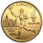 1995-W Olympic Torch Runner - $5 Gold Comm - BU w/NationsBank Box