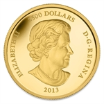 2013 Gold Proof Kilo Canadian $2,500 The Caribou