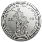 1987 1 oz Swiss Platinum William Tell (MS-69 NGC)