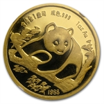 1988 1 oz Gold Chinese Panda Munich Coin Fair Medal NGC PF-69