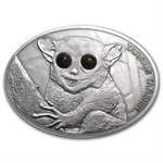 Fiji 2013 Silver $10 Fascinating Wildlife - Maki Tarsius Tarsier