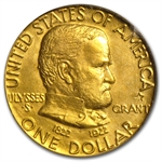 1922 $1.00 Gold Grant - WITH Star MS-62 PCGS - CAC