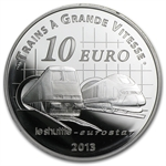 2013 Silver Proof - Trains and Stations - Channel Tunnel
