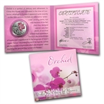 Belarus 2013 Silver Proof Under the Charm of Flowers - Orchid