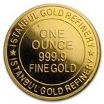 1 oz Istanbul Gold Refinery Round (In Assay) .9999 Fine
