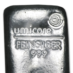 250 gram Umicore Silver Bar (1/4 kilo, Poured)