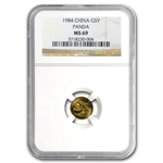 1984 (1/20 oz) Gold Chinese Pandas - MS-69 NGC