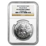 2013 1 oz Silver Canadian -The Polar Bear Family - PF-70 UCAM NGC
