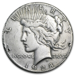 1928 Peace Dollar - Very Fine Details - Rim Nicks