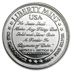 1 oz Liberty Mint Silver Round .999 Fine