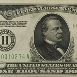 1928 (H-St. Louis) $1,000 FRN (PMG About Uncirculated 55 Net)