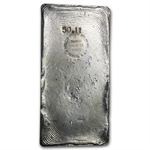 50.11 oz Heraeus Silver Bar (Poured) 999.5 Fine