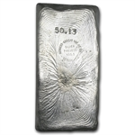 50.13 oz Heraeus Silver Bar (Poured) 999.5 Fine