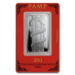 1 oz Pamp Suisse Silver Bar - Year of the Snake (In Assay)