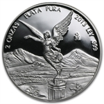 2013 2 oz Proof Silver Mexican Libertad - In Capsule