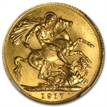 Canada 1917-C Sovereign Gold George V MS-63 NGC