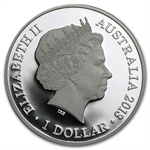 2013 1 oz Australian Proof Silver Kangaroo in Outback F15 Privy