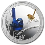 2013 1/2 oz Silver Splendid Fairy-Wren - Birds of Australia