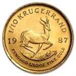 1987 1/10 oz Gold South African Krugerrand