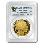 2009-W 1 oz Proof Gold Buffalo PR-70 PCGS FS (Black Diamond)