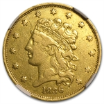 1836 $5 Gold Classic Head Half Eagle - VF-30 NGC