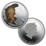 2012 - 2013 1/2 oz Proof Silver Australian Bush Babies 5-coin Set