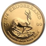 2000 1/4 oz Gold South African Krugerrand PCGS MS-68 (WTC)
