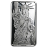 1 oz Statue of Liberty Silver Bar .999 Fine (MTB, Sealed, CoA)