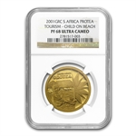 South Africa 2001 1 oz Gold Protea Tourism NGC PF-68 UCAM