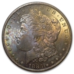 1883-CC Morgan Dollar MS-65 PCGS Obverse Toning - GSA Certified