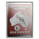 2013 1/2 oz Silver Kangaroo & Map Stamp & Coin Set