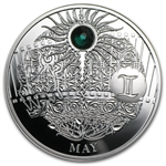 Niue 2013 Proof Silver $1 Magic Calendar of Happines - May