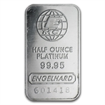 1/2 oz Engelhard Platinum Bar .9995 Fine