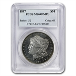 1897 Morgan Dollar - MS-64 DMPL Deep Mirror Proof Like PCGS