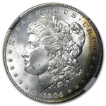 1904-O Morgan Dollar MS-64* Star NGC Beautiful Obverse Colors CAC